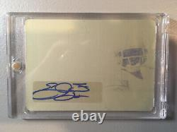 1/1 Emmitt Smith Autograph Printing Plate 2019 Leaf In The Game Auto Cowboys