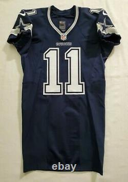#11 Cole Beasley of Cowboys NFL Locker Room Game Issued Blue Jersey