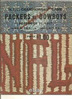 12/31/67 program N. F. L. Championship game Ice Bowl Green Bay vs. Dallas
