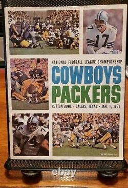 1966 NFL Championship Game Program Green Bay Packers vs Dallas Cowboys EX+