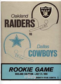 1969 Rookie Game Program RARE Oakland Raiders Dallas Cowboys Stabler v Staubach