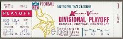 1975 NFC Divisional Playoff Game Ticket Dallas vs Vikings Staubach Hail Mary