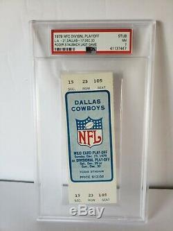 1979 Original Ticket Stub Roger Staubach Hof Qb Last Final NFL Game Psa 7 Nm 1/1