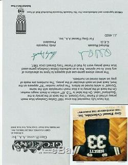 1987 Tony Dorsett Game Worn Dallas Cowboys Jersey Grey Flannel + Lou Lampson LOA