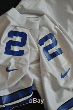 #2 Dallas Cowboys Nike Pro Line Team Issued Game Cut 1997 Jersey NFL White Large