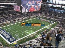 2 Dallas Cowboys Tickets vs. Washington Redskins Cowboys Tix Home Game
