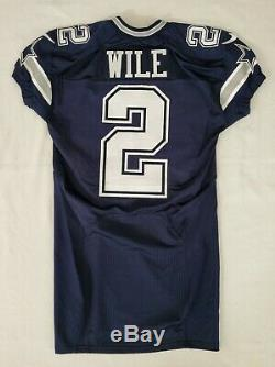#2 Matt Wile of Dallas Cowboys NFL Locker Room Game Issued Jersey