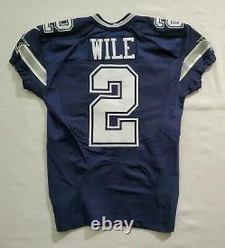 #2 Matt Wile of Dallas Cowboys NFL Locker Room Game Issued Jersey
