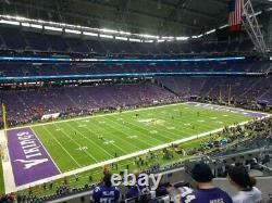 2 Tickets Minnesota Vikings vs. Dallas Cowboys NFL SNF game 10/31 720pm Sec 239