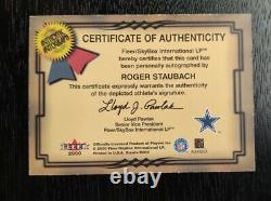 2000 Fleer Greats OF THE GAME GOTG AUTO ROGER STAUBACH DALLAS COWBOYS