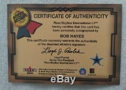 2000 Fleer Greats Of The Game Bullet Bob Hayes Autograph Dallas Cowboys Auto