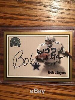 2000 Fleer Greats of the Game Autograph Bob Hayes Dallas Cowboys