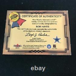 2000 Fleer Greats of the Game BOB HAYES Auto Dallas Cowboys SC1