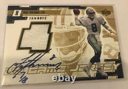 2000 Upper Deck UD GOLD Game Jersey Signed Troy Aikman #TA-A Auto AUTOGRAPH 7/8
