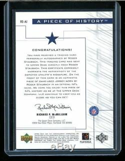 2001 Upper Deck Pros & Prospects Roger Staubach Game-Worn Jerey Auto Autograph