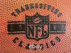 2003 The Duke Thanksgiving Ball Cowboys v Dolphins Game Used Football COA Witten