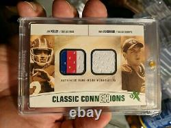 2004 Fleer EX Jim Kelly Troy Aikman 1/1 Dual Patches 1 of 1 game worn jerseys