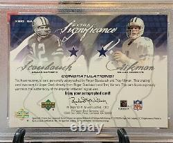 2004 SP Game Used Roger Staubach Troy Aikman Extra Significance PSA/DNA