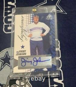 2004 SP Game Used SIGNFICANCES Dallas Cowboys JIMMY JOHNSON Autograph AUTO #D SP