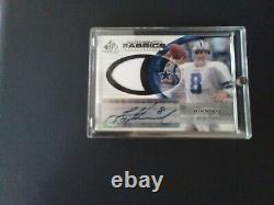 2004 Sp Game Used Authentic Fabrics Troy Aikman Jersey + Autograph #78/100