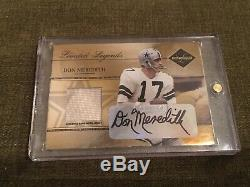 2005 Leaf Limited Legends Don Meredith Game Worn Jersey/Autograph #21/50! AUTO