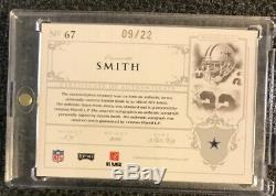 2007 National Treasures Emmitt Smith Game Worn Prime Jersey Auto /22 Cowboys