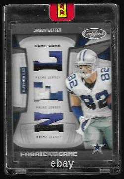 2009 Certified Fabric of the Game Jason Witten Cowboys Triple GU Patches 1/1