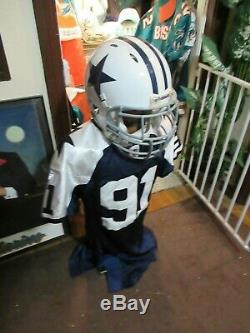 2009 Dallas Cowboys Game Used Worn Throwback Helmet with Steiner COA
