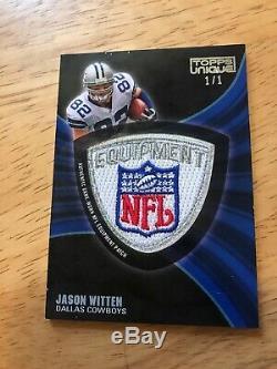 2009 Topps Unique JASON WITTEN Game Worn NFL Shield Equipment Patch 1/1 HOF