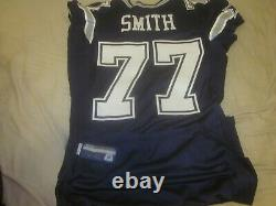 2010 Dallas Cowboys Game Issued Blue Jersey #77 Tyron Smith