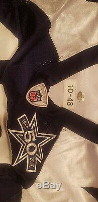 2010 Thanksgiving David Buehler #18 Dallas Cowboys Throwback Game Worn Jersey