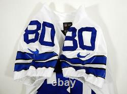 2013 Dallas Cowboys Chris Boyd #80 Game Issued White Jersey