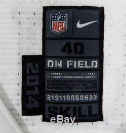 2014 Dallas Cowboys Cole Beasley #11 Game Issued White Jersey London Poppy