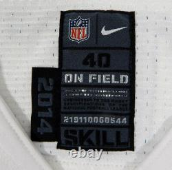 2014 Dallas Cowboys Devin Street #15 Game Issued White Jersey London Poppy