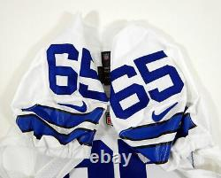 2014 Dallas Cowboys Ronald Leary #65 Game Issued White Jersey London Poppy