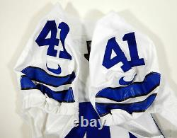 2014 Dallas Cowboys Tim Scott #41 Game Issued White Jersey