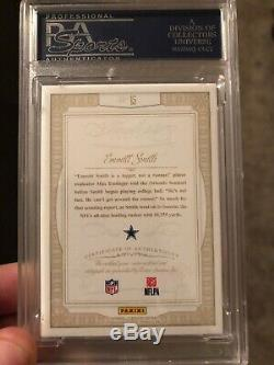 2014 Flawless Emmitt Smith Greats Emerald Logo Patch Auto /5 PSA 10 Game Worn