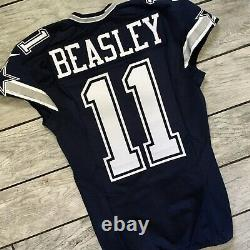 2014 Nike NFL Jersey Dallas Cowboys Cole Beasley Team Game Issued Pro Cut COA