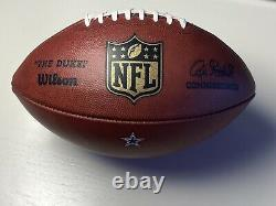 2015 Dallas Cowboys Authentic Used NFL Game Ball Wilson The Duke Football