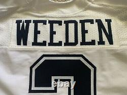 2015 Dallas Cowboys Brandon Weeden Game Issued White Color Rush Jersey