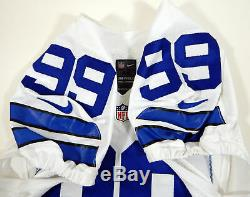 2015 Dallas Cowboys Charles Tapper #99 Game Issued White Jersey