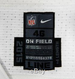 2015 Dallas Cowboys Joey Ivie #74 Game Issued White Jersey