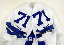 2015 Dallas Cowboys La'el Collins #71 Game Issued White Jersey DAL00254