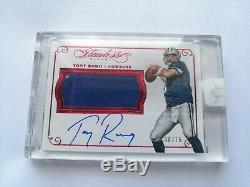2015 Flawless Tony Romo Game Used Patch Auto /15