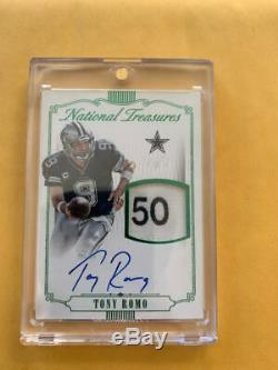 2015 Panini National Treasures Tony Romo GAME USED Material Signatures True 1/1
