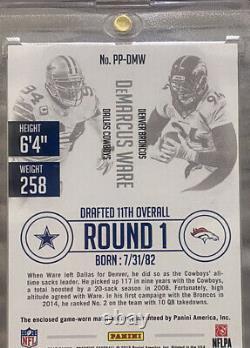 2015 Prestige DeMarcus Ware Game Worn Cowboys & Broncos Logo Patches 1/5