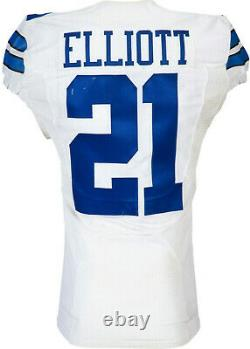 2016 Dallas Cowboys Ezekiel Elliott Game Worn-game Used Rookie Jersey