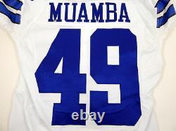2016 Dallas Cowboys Henoc Muamba #49 Game Issued White Jersey