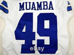 2016 Dallas Cowboys Henoc Muamba #49 Game Issued White Jersey DAL00095