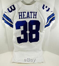 2016 Dallas Cowboys Jeff Heath #38 Game Issued White Jersey DAL00261